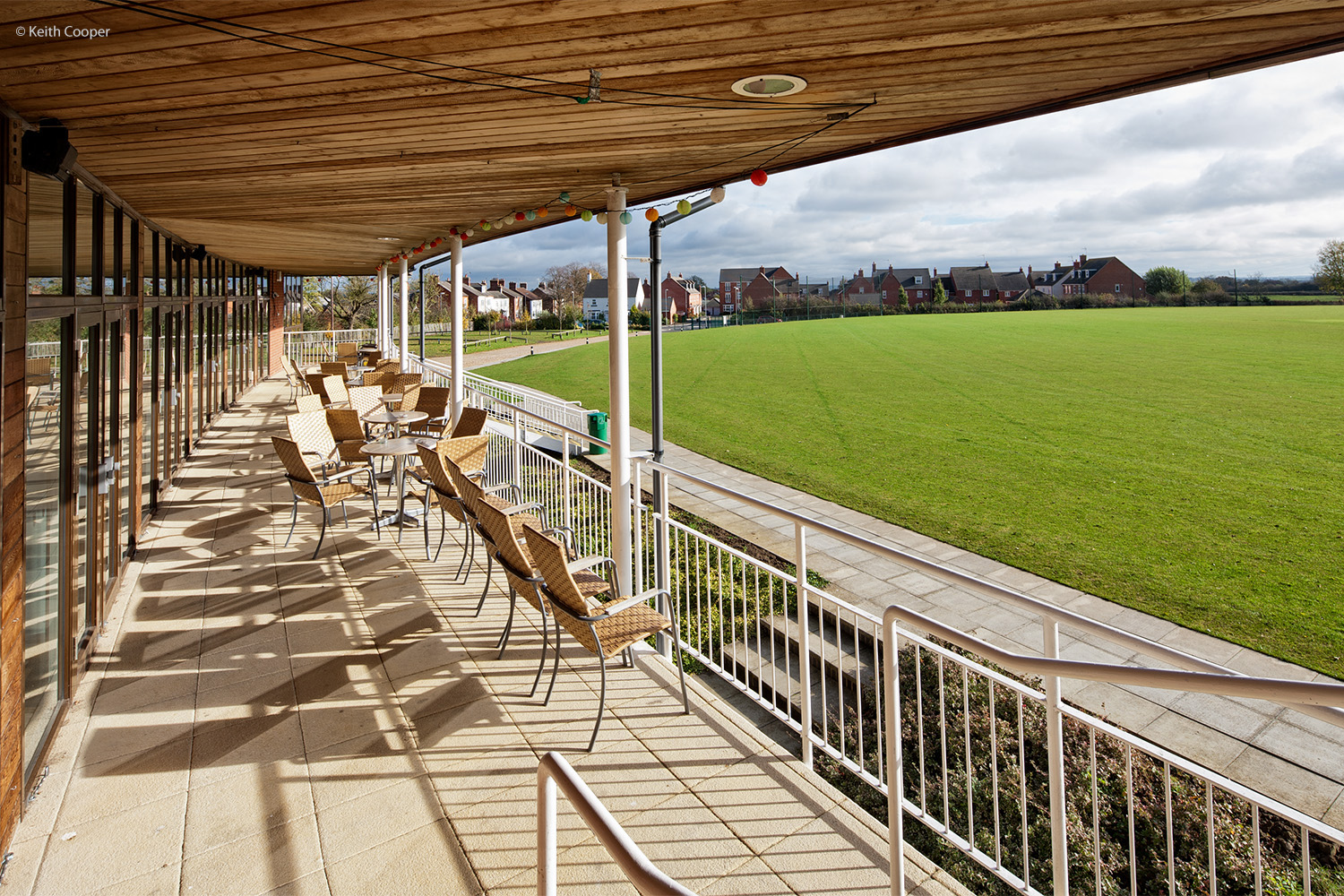 Cricket pavilion viewing area