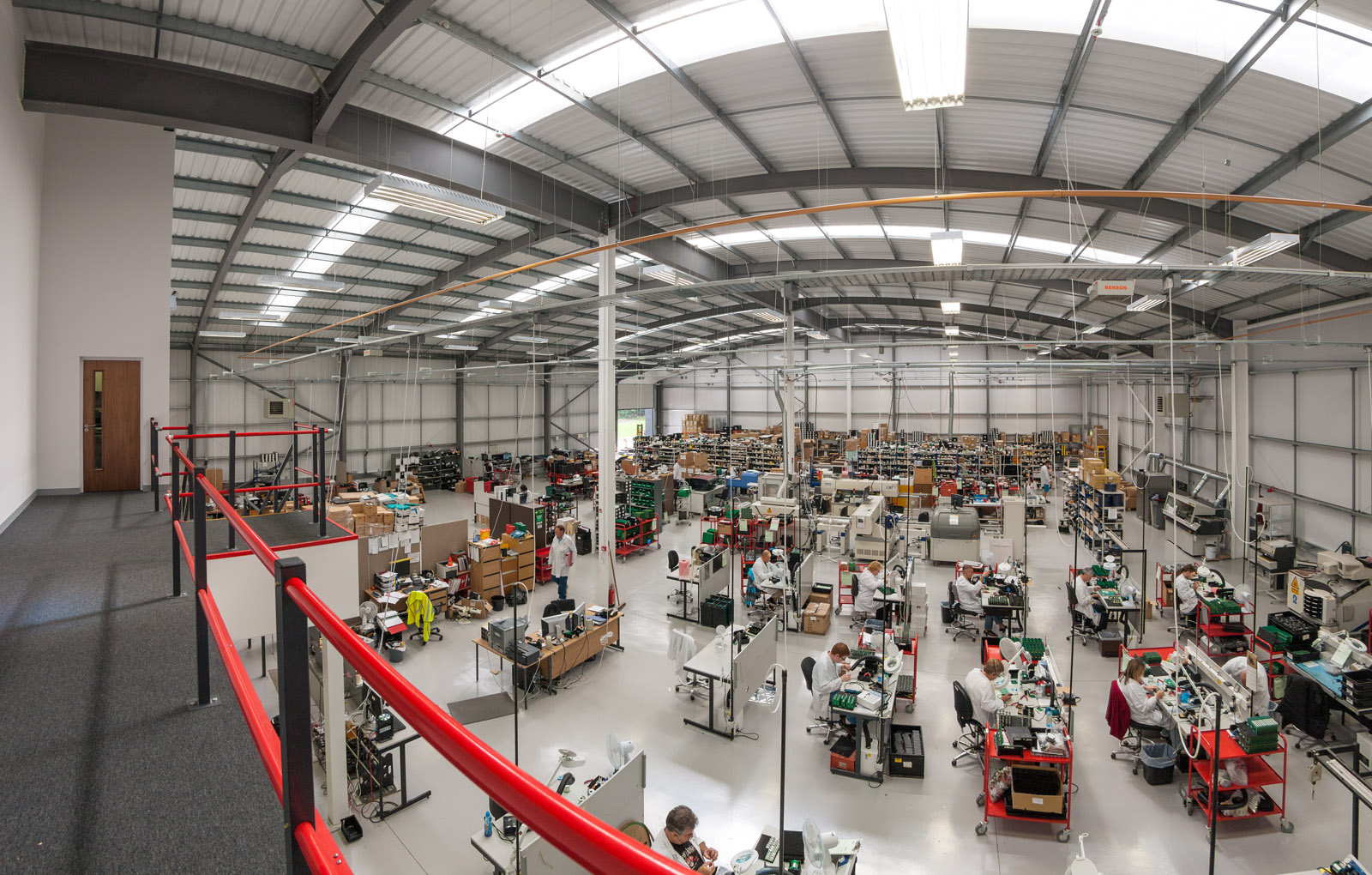 wide view of factory interior