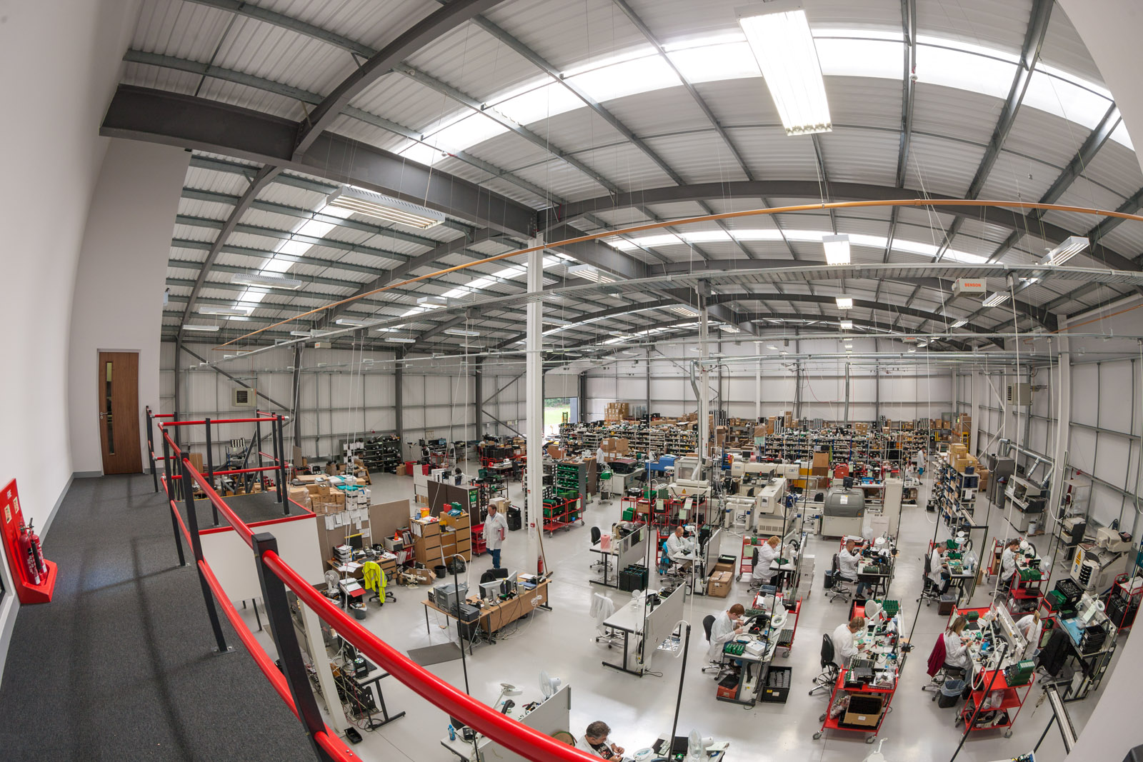 View of factory, a wide view, fish-eye lens