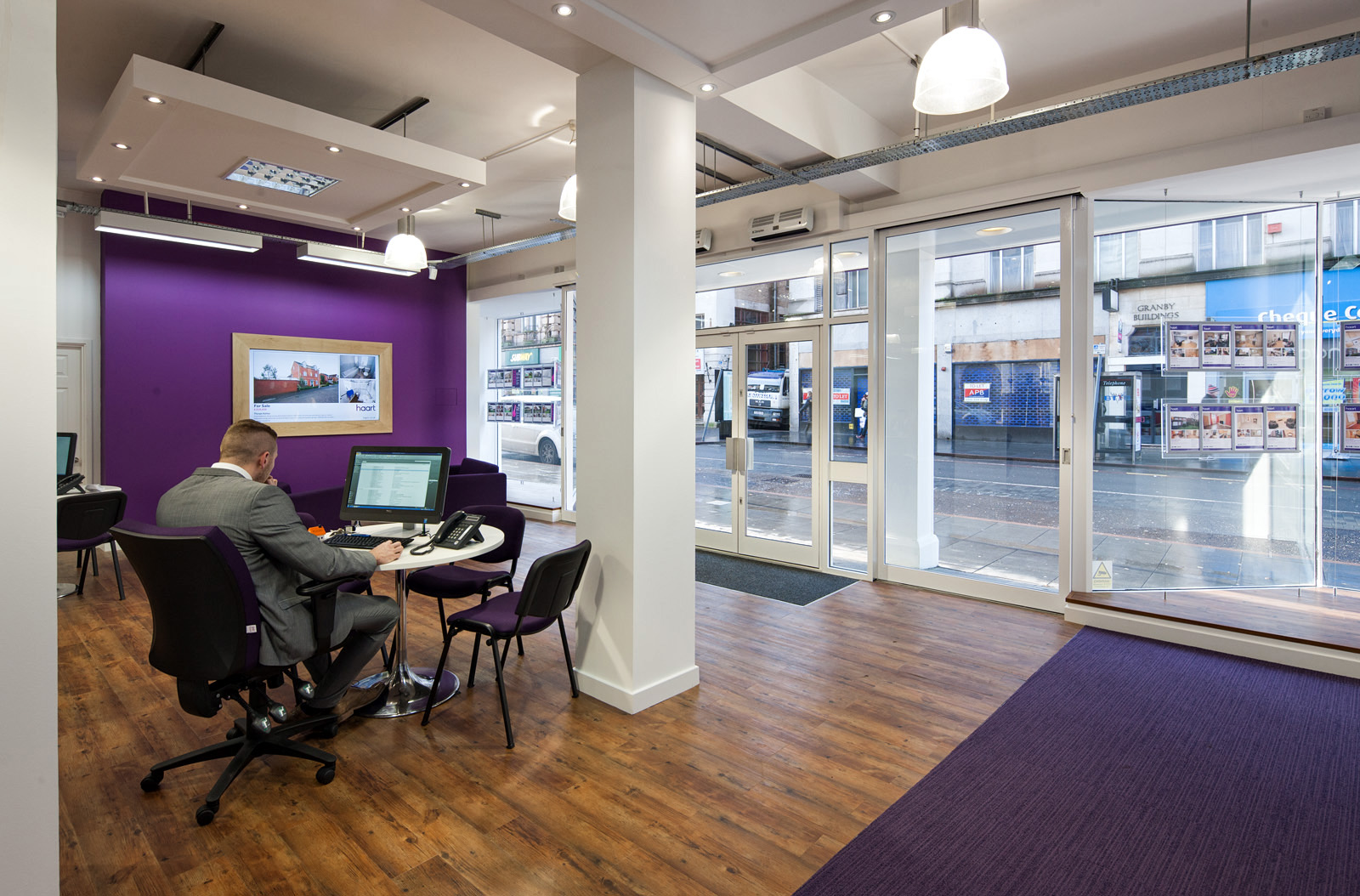 City centre estate agency office for Real estate office interior design