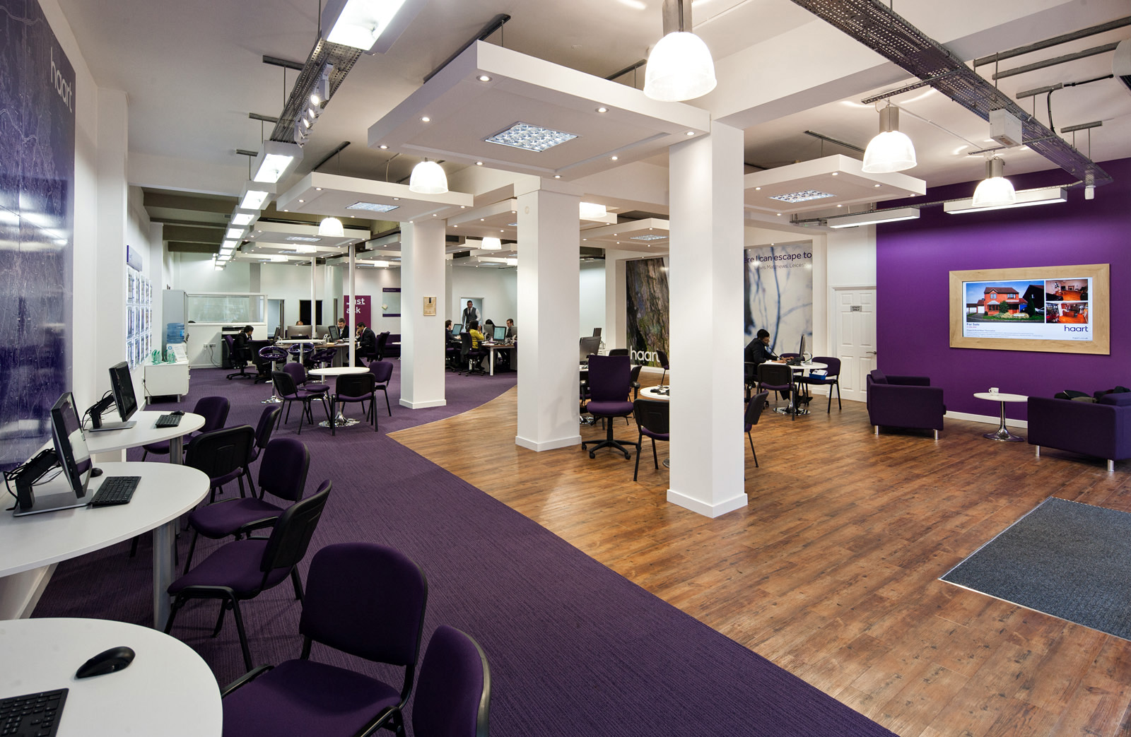 City centre estate agency office for Estate agency interior design