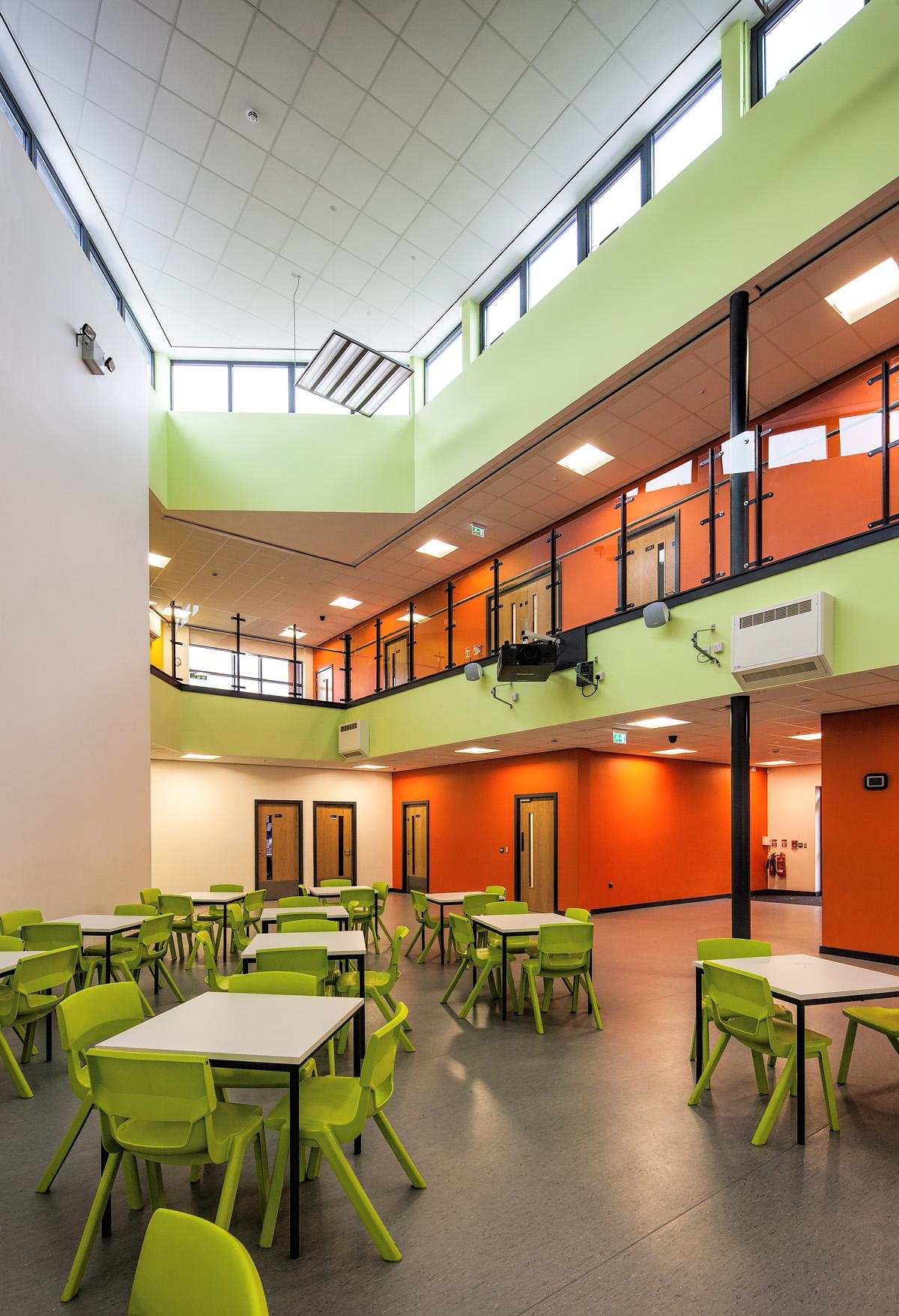Open hallway in new school building