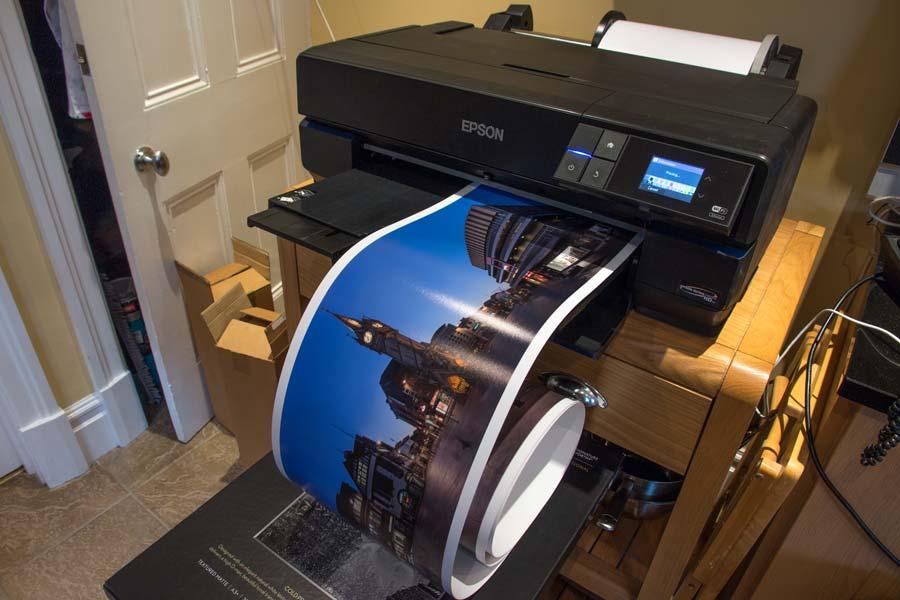 10 inch width print on roll paper using P800 printer